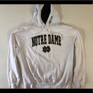 Notes Dame Men's XL Hoodie White